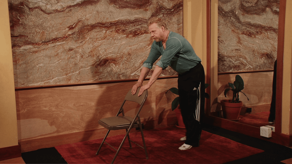 Chair Pull Down - Starting Stretch Position