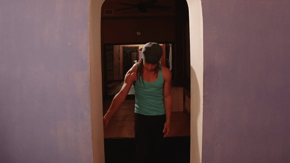 Low Hand on the Door Frame - Starting Stretch Position